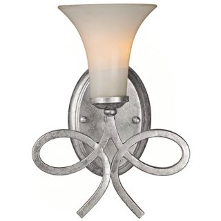 "Crystorama Solaris 12"" High Silver Wall Sconce   #K0645"