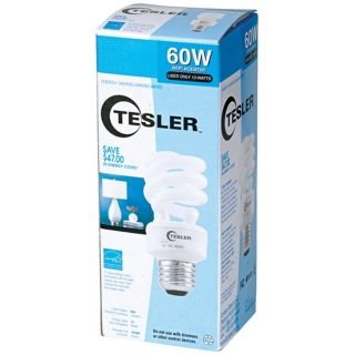 Tesler 13 Watt Warm White ENERGY STAR Spiral CFL Bulb   #K7795