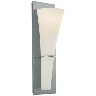 "Barrington 15 1/4"" High Brushed Steel Wall Sconce   #G0488"
