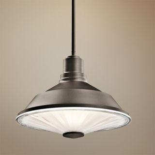 "Kichler Point Judith 12"" Wide Bronze Outdoor Pendant Light   #V9419"