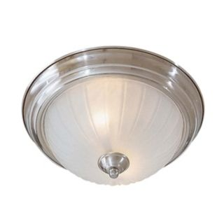 "Melon 13"" Wide Nickel ENERGY STAR Ceiling Light Fixture   #44080"