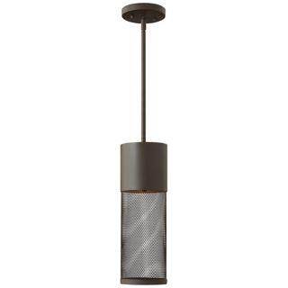 """Hinkley Aria Steel Mesh 19 1/4"""" High Bronze Outdoor Pendant   #W9159"""
