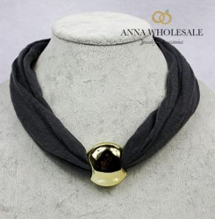Womens Gold opean Beads Charm Collar Cotton Short Pendant Necklace