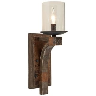 "Artcraft Hockley 5 1/4"" Wide Pine Wood Wall Sconce   #W9265"