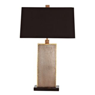 Graham Natural Iron Brass and Marble Table Lamp   #M6073