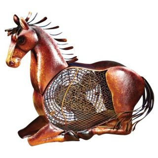 Horse Figurine Mottled Brass Desk Fan   #N0258
