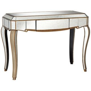 Vanessa Antique Gold Mirrored Console Table   #W3061