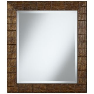 "Wood Ripple 29 1/2"" High Rectangular Wall Mirror   #W4094"