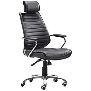 Zuo Enterprise Collection High Back Black Office Chair   #V7450