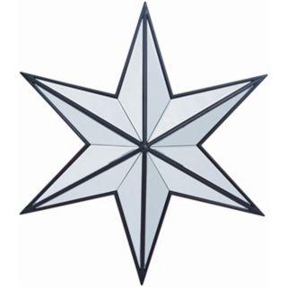 "Dark Bronze Polaris 22"" Wide Star Shape Wall Mirror   #P7892"