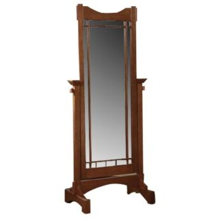 """Mission Oak Cheval Style 60"""" High Floor Mirror   #21254"""