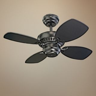 "28"" Colony II Matte Black Finish Ceiling Fan   #J0757"