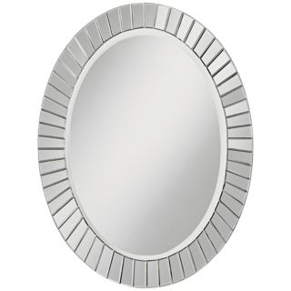 "Sunspot 33 1/2"" High Oval Wall Mirror   #N5843"