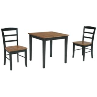 Combo Wood Finish Dining Table and Madrid Chairs Set   #U4329