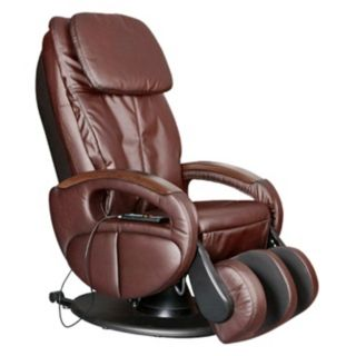 Brown Full Body Reclining Massage Chair   #W7946