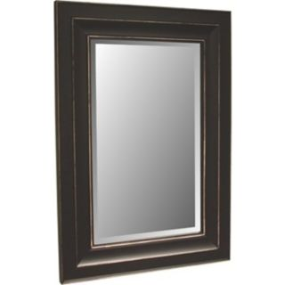 """Bar Harbour Distressed Black Finish 46"""" High Wall Mirror   #06390"""