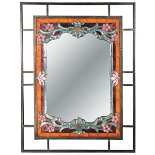 "Dale Tiffany Alexei 36"" High Art Glass Wall Mirror   #X2703"