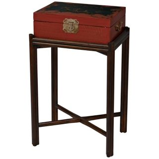 Lantan Elm Wood Box On Stand   #P2858