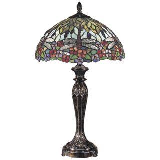 Dale Tiffany Fieldstone Art Glass Table Lamp   #12553