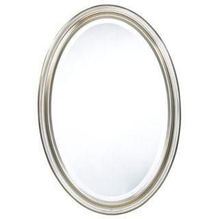 "Cooper Classics Silver Blake 31 1/2"" High Oval Wall Mirror   #U9984"