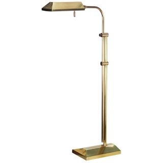Topper Antique Brass Adjustable Pharmacy Floor Lamp   #H0271