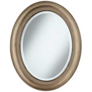 "Cameo Champagne Finish 30 1/2"" High Oval Wall Mirror   #W4272"