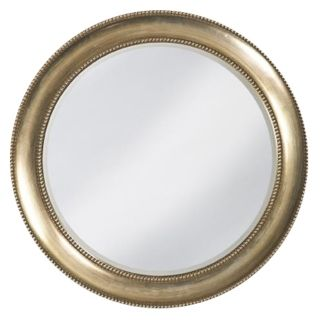 Grant Burnished Silver Leaf 40 Wide Wall Mirror   #00452