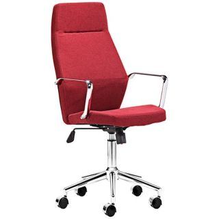 Zuo Holt Collection High Back Red Office Chair   #V7437