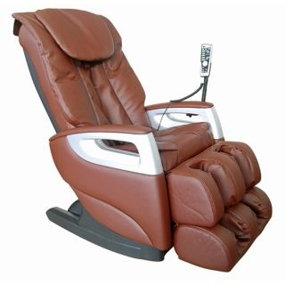 Brown Faux Leather Shiatsu Massage Chair   #W8058