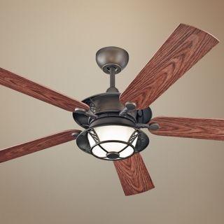 """52"""" Monte Carlo Burnet Outdoor Ceiling Fan with Light   #U6010"""
