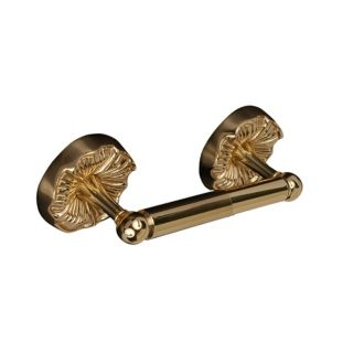 Daisy Polished Brass Toilet Paper Holder   #08056