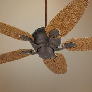 "52"" Casa Optima Honey Rattan Blades Ceiling Fan   #86814 88828"