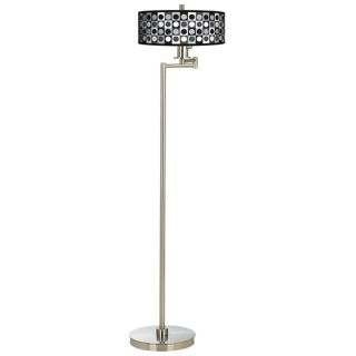 Black and Grey Dotted Squares Energy Efficient Floor Lamp   #13024 K1258