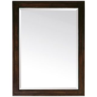 "Madison Light Espresso 32"" High Rectangular Wall Mirror   #R8970"