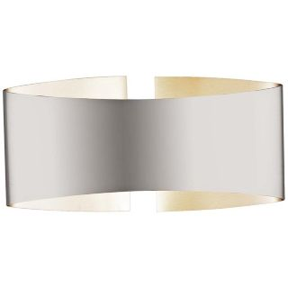 "Holtkoetter Voila 9 1/4"" Wide Stainless Steel Wall Sconce   #P4867"