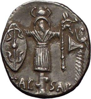 Julius Caesar Roman Dictator 48BC Authentic Ancient Silver Coin Venus