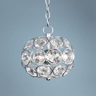 "ET2 Brilliant 7 3/4"" Wide 3 Light Oval Crystal Pendant Light   #V0530"
