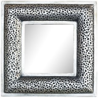 Port 68 Glendale 20 Square Pewter Wall Mirror   #X6819