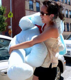 Giant 60 5FOOT Stuffed Puppy Dog Plush Jumbo Big Blue