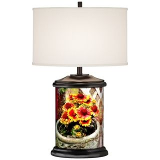 Wood, Country   Cottage Table Lamps