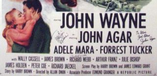 John Wayne Sands of Iwo Jima Autographed Movie Poster