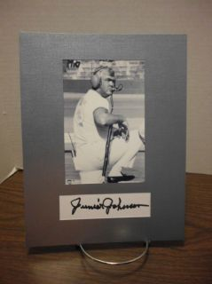 Junior Johnson Autograph NASCAR Legend Display Signed Signature COA