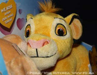 Disney The Lion King Kissing Simba and Nala Cubs Plush Stuffed Toys