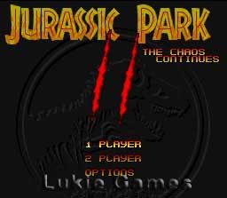 Jurassic Park 2 SNES Super Nintendo Game