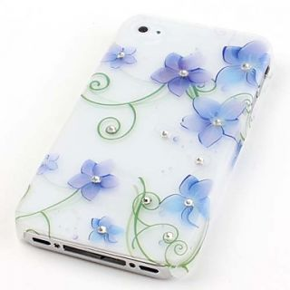 USD $ 3.29   Blue Flowers Pattern Hard Case for iPhone 4 and 4S,