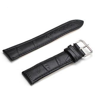 EUR € 3.30   unisex correa de cuero genuino reloj de 22mm (negro