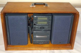 JVC UX 1 Micro Component Stereo System with Custom Travel Case   AM/FM