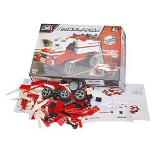 3D Puzzle DIY bloques de construcción ladrillos de juguete Ambulancia