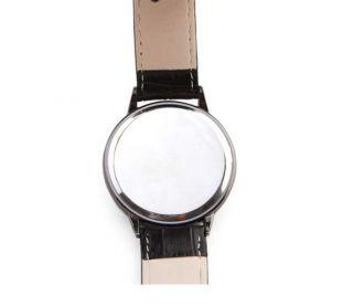 Reloj Pulsera de Pantalla Táctil de LED Azul y Blanco Con Correa de
