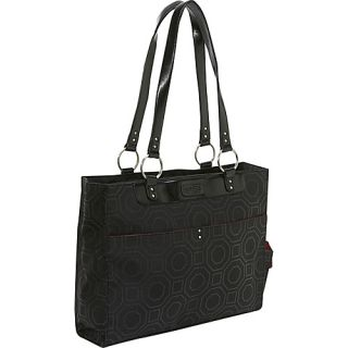 Kailo Chic Womens Structured Laptop Tote Black
